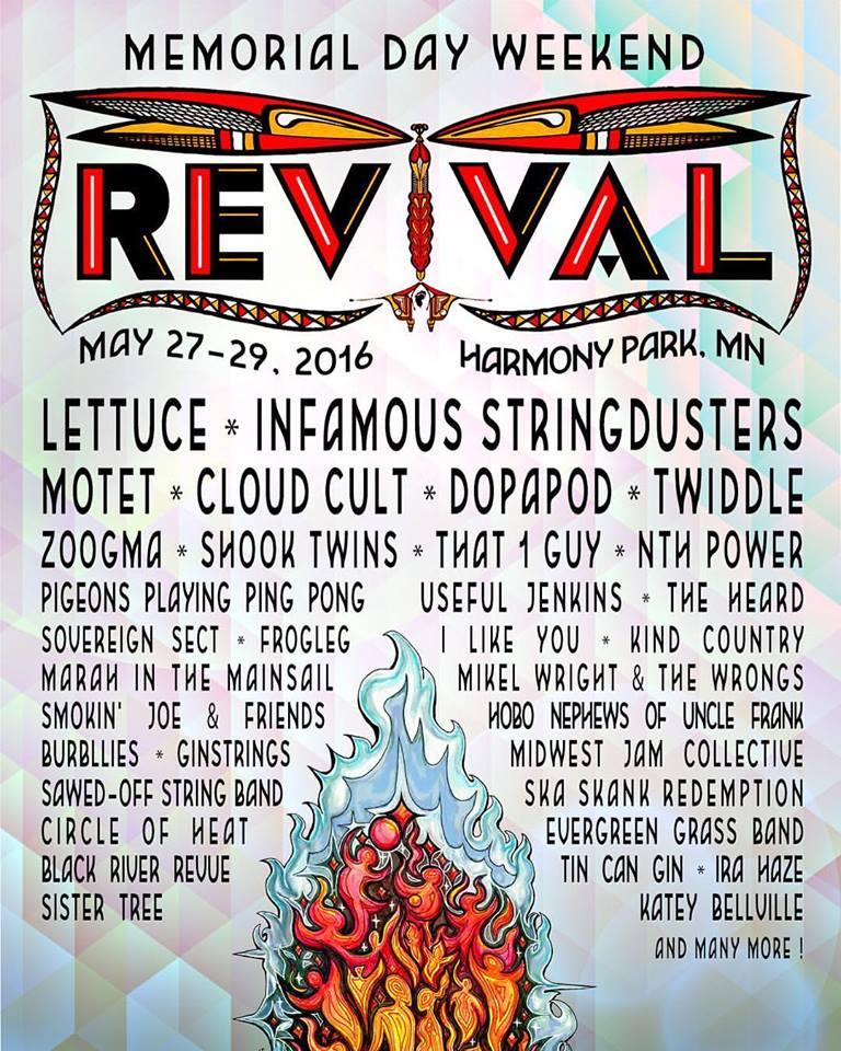 Revival Festival: May 27-29 @ Harmony Park Music Garden in Geneva MN