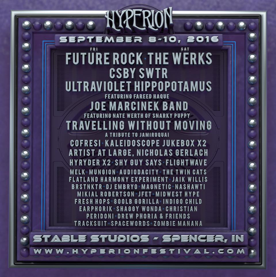 Hyperion Lineup poster 2016